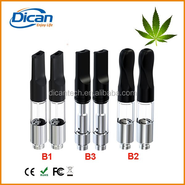 cbd oil vaporizer pen cartridge 0.5ml no wick thick oil atomizer clear plastic tube