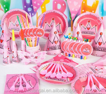 Bithday Party Kids Sets For Birthday Party Decorations Supplies Assorted Styles