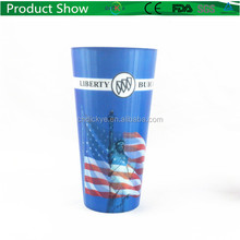 3d Customized Lenticular hard Plastic straw cup with promotional Cheap Straw Cup