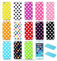 Cute Candy Color Soft Silicon TPU Dot Back Case Cover For iPhone 6 Plus