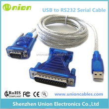 USB to Serial Port adapter cable with DB9 Female to DB25 Male Serial Adapter