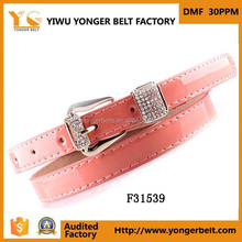 beautiful cute rhinestone belt skinny waist belt lady decorative jeans buckle belt for lady