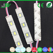 Aluminum PCB Waterproof DC12V IP67 Single Color 0.6W SMD Injection 3Led 5730 Injection Led Module