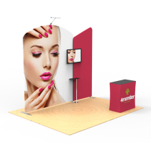 3x3m 10x10ft aluminum frame tension fabric tradeshow booth designs for exhibition display stand