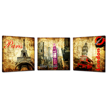 Vintage Canvas Art/Famous Building Canvas Printing/Dropship 3 Panel Home Wall Art
