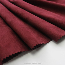High grade 105D sea-island single suede fabric soft microfiber fine knitting and uniform for women fabric