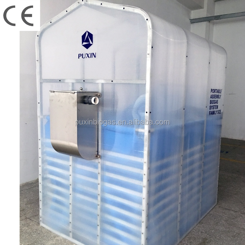 PUXIN family size DIY assembly biogas digester
