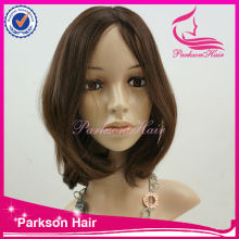 HIgh quality most hosttest beauty shining European remy hair silk top Jewish expensive human hair wigs