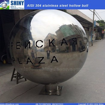 2M highly polished large stainless steel hollow ball with logo