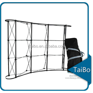 TB-LW-L3 pull up banner stand with springs pop up