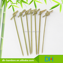 heart shape top eco friendly bamboo bbq skewer