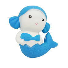 Hot Sale Jumbo Squishy Mermaid Slow Rising Soft Toy Fish Squishy Animal Toy for Kids
