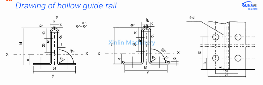 TH5A and TH3A of hollow elevator guide rail