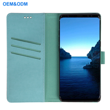 2018 Hot Selling Folio Flip PU leather wallet case cover for Samsung Note 8