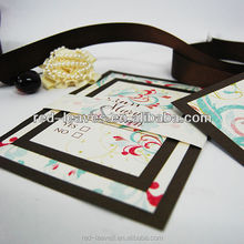 Guangzhou graceful black wedding card pakistan wedding invitation cards for party