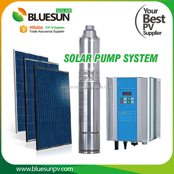 1.1kw 1.5hp submersible solar water pump Solar powered irrigation water pump for agriculture
