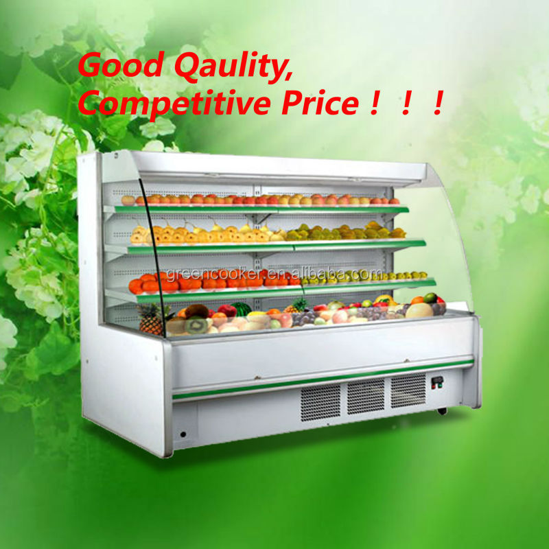 beverage,fruit and vegetables display case with CE approve