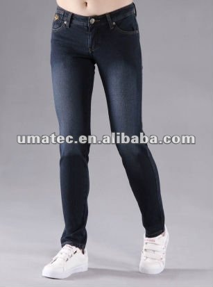B2B Woman knitted tight jeans girls skinny jeans for woman