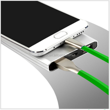 1M/3.3fFT 7 Color LED Metal USB Cable 8 pin and Charging Charger Cable for iPhone6 6 plus 5 5s iPad for ios 8 ios9 1M