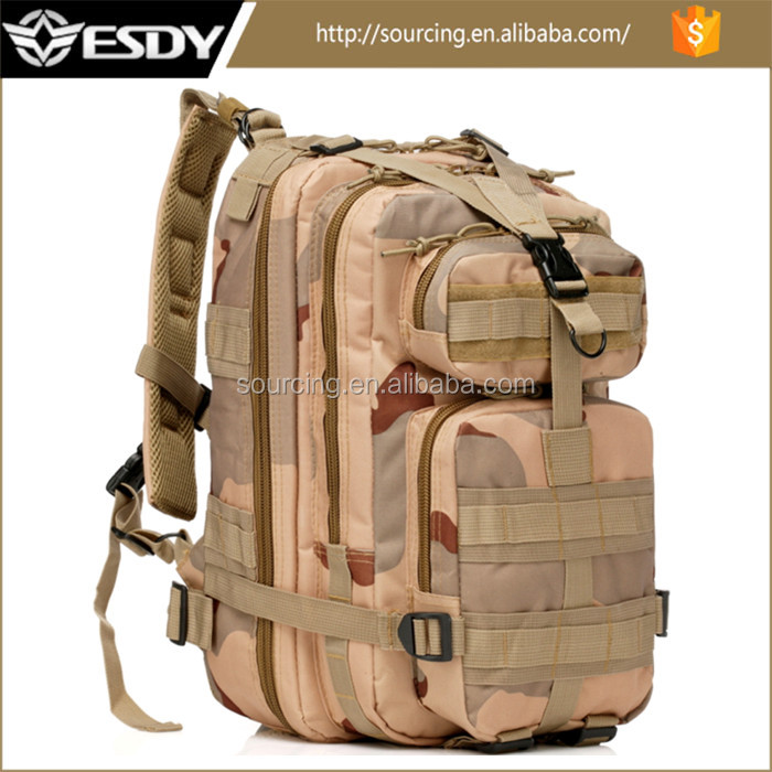 ESDY Outdoor Camo Level III Medium Transport Army Assault bag, Tactical Military Backpack
