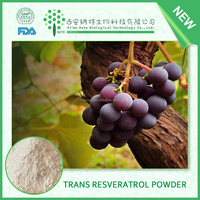 Antioxidant health care product Resveratrol 98% powder Pure Trans Resveratrol purity resveratrol from Herbal Extract Supplier