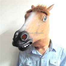 animal party mask Halloween Costume Party Latex Head Mask horse