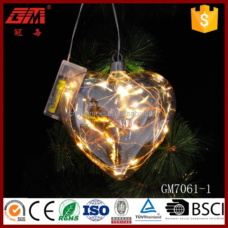Wholesale decorative heart shaped glass crafts