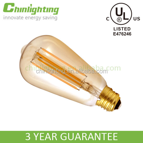 E26/E27 4W 6W ST64 Squirrel Cage Antique Decorative Filament LED Edison Bulb led