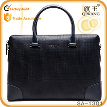 top grain luxury blue business briefcase, leather laptop bag with competitive price