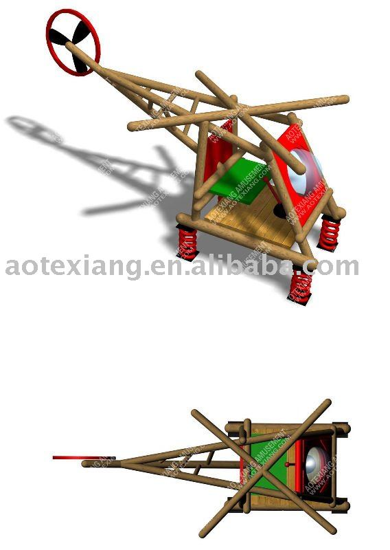 2011 New Outdoor Wooden Helicopter - Adventure Park Themed