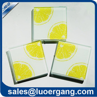 2014 new design drink squre glass Coaster glass crafts