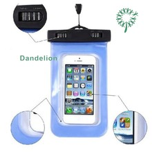 waterproof cell phone cases, mobile phone PVC waterproof bag for promotional gift