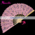 Hot Sale Wholesale Wedding Lace Fan Pink Cotton And Wooden Vintage Hand Fan Summer Party Supplies Fan Gift