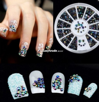 New nail design accessories fashion 3D nail art black acrylic decorations in a 6cm box