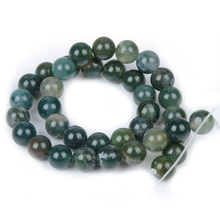 Chanfar Natural Moss Agate Stone Beads Accessory