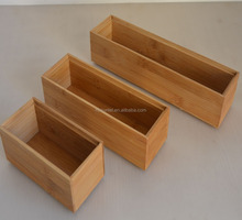 Wholesale Stackable Bamboo Organization Boxes Set of 3 Storage Boxes For The Kitchen/ Bathroom/Office