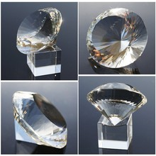 Hot Sales K9 Crystal Glass 3d Laser Engraved Cut Crystal Diamond Paperweight For Office Work