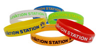 Silicone Bracelet/Rubber Wristband For Promotion, Gifts