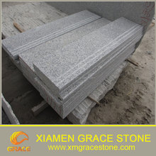 Cheap natural stone stair treads G603 custom outdoor granite stairs for sale