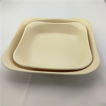 christmas gift new product bamboo fiber plate food serving tray