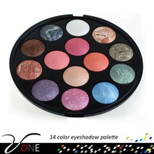 14 color baked eye shadow palette,professional eyeshadow makeup for salon