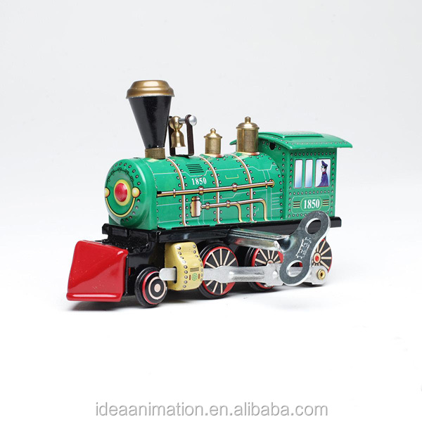 Ancient resin pvc train model for collectible alloy diecast OEM London old train toy
