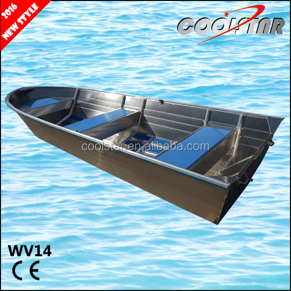 Popular 14ft aluminum fishing boat all welded with square gunwale and rubber coating