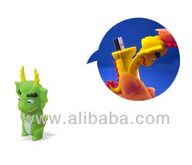 Dragon USB Flash Drives, USB Memory Sticks, USB Flash Disks, Pen Drives, Promotional Gifts (Green)