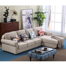 Hot sell living room furniture modern design fabric corner sofa american sofa sets