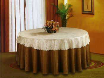 decorative round table cloth fabric