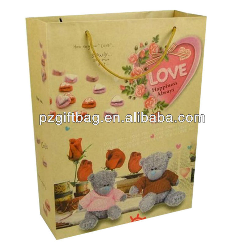 tinted textured paper gift bag
