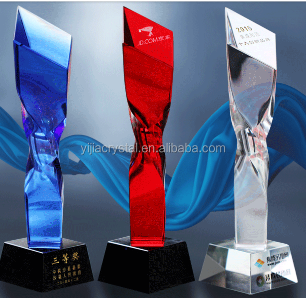 2018 cheap price crystal trophy ,hot selling crystal trophy,k9 crystal plaque