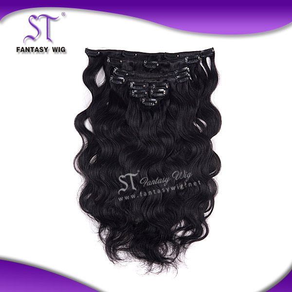 Tangle Free Hair Weave 8 Inch to 25 Inch Clip In Synthetic Hair Extensions