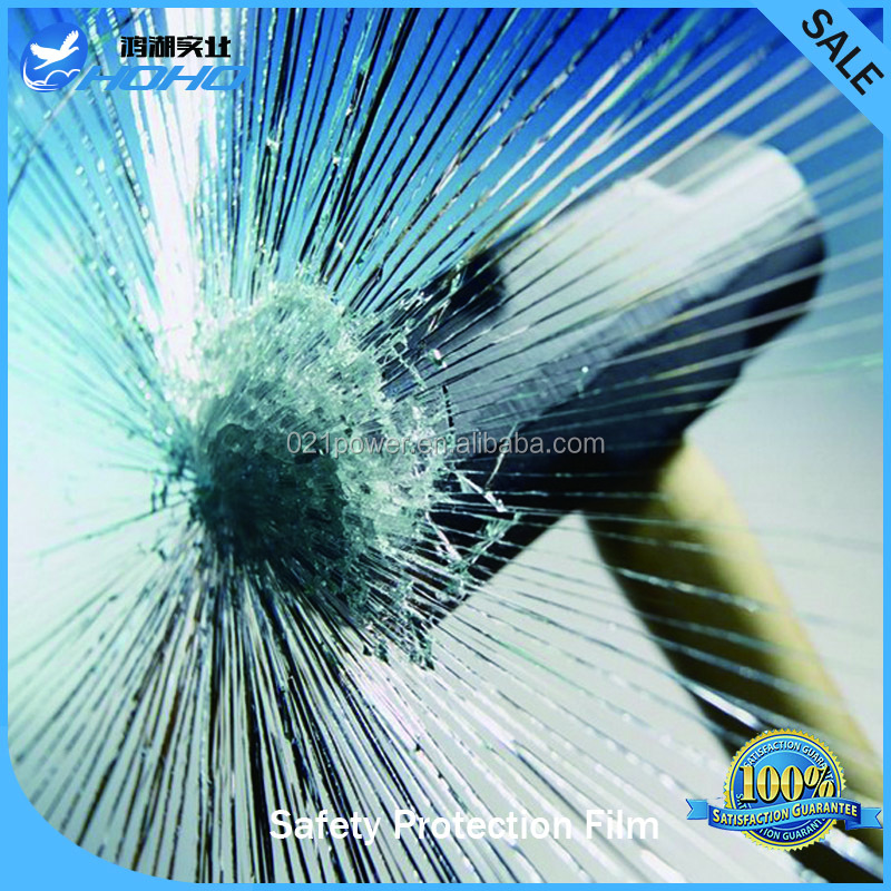 anti shatter window film safety PET bullet proof film